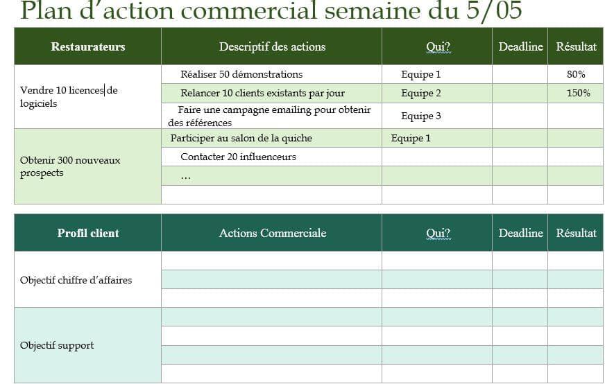 Plan d'action exemple