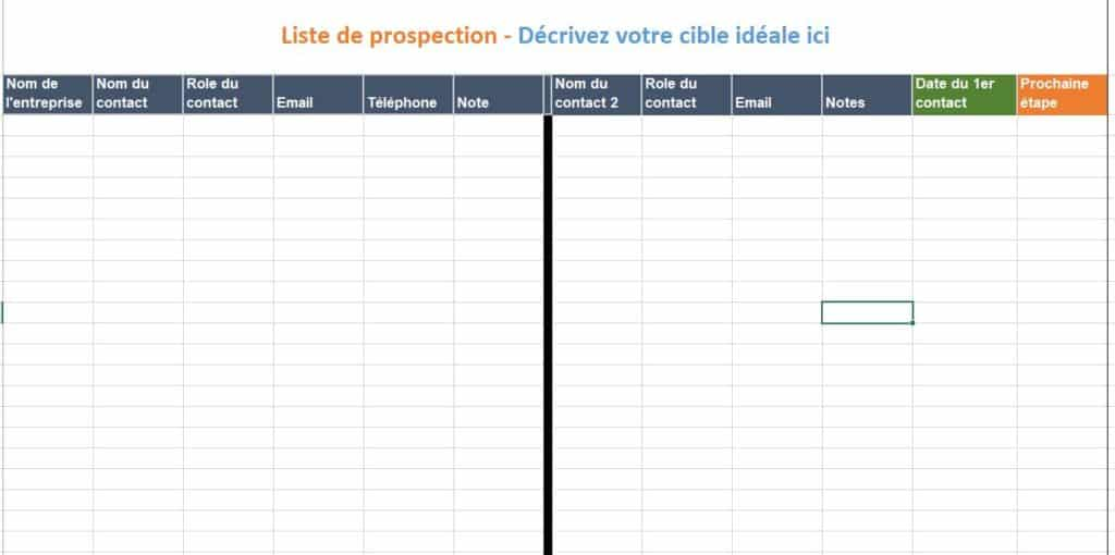 Liste de prospection