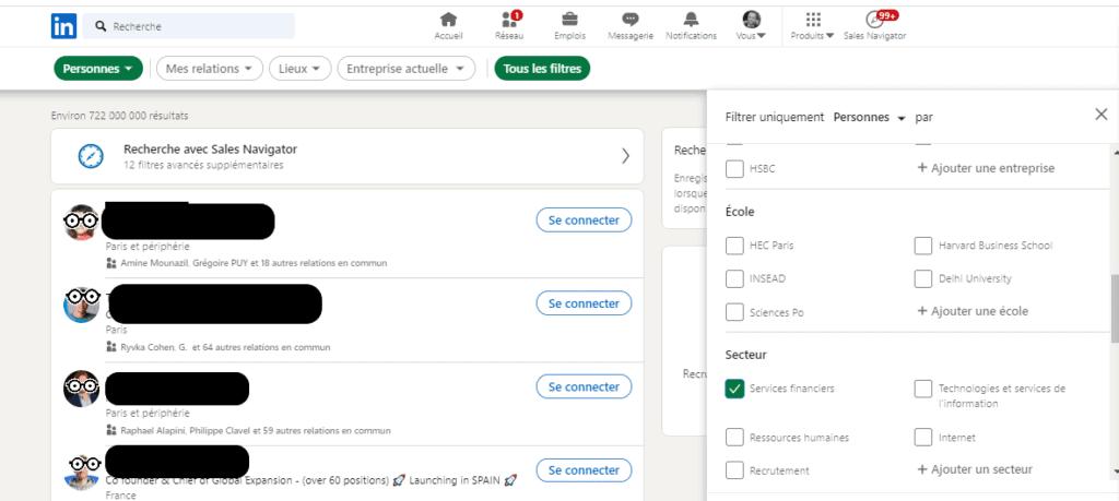 Prospect export contact LinkedIn